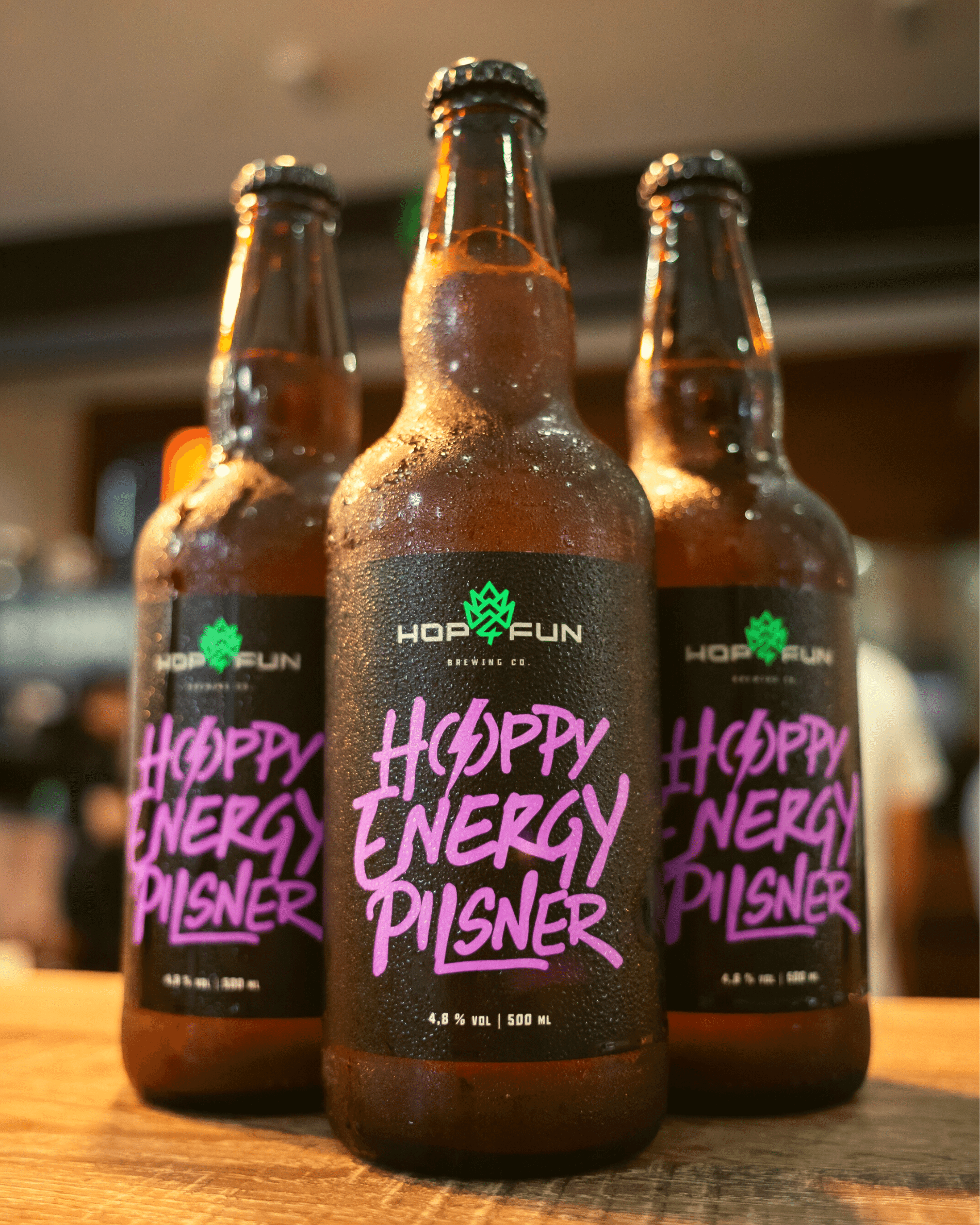 Hop For Fun cervejas especiais Hoppy Energy Pilsner